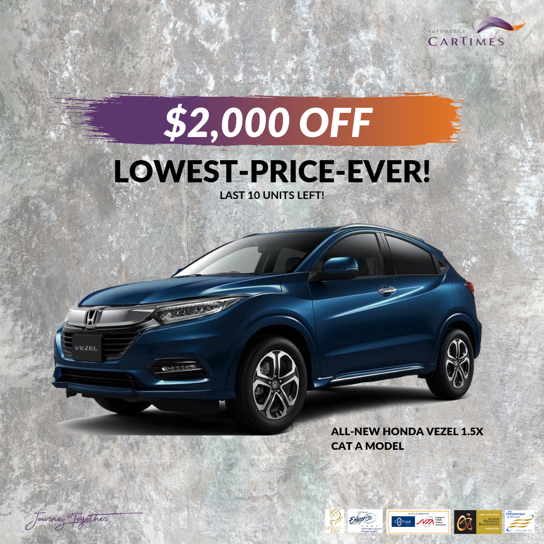 Get $2000 OFF HONDA VEZEL 1.5X Today!