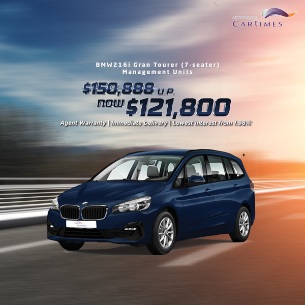 BMW 216i Gran Tourer (7-Seater) Management Unit Special Offer Car Promo
