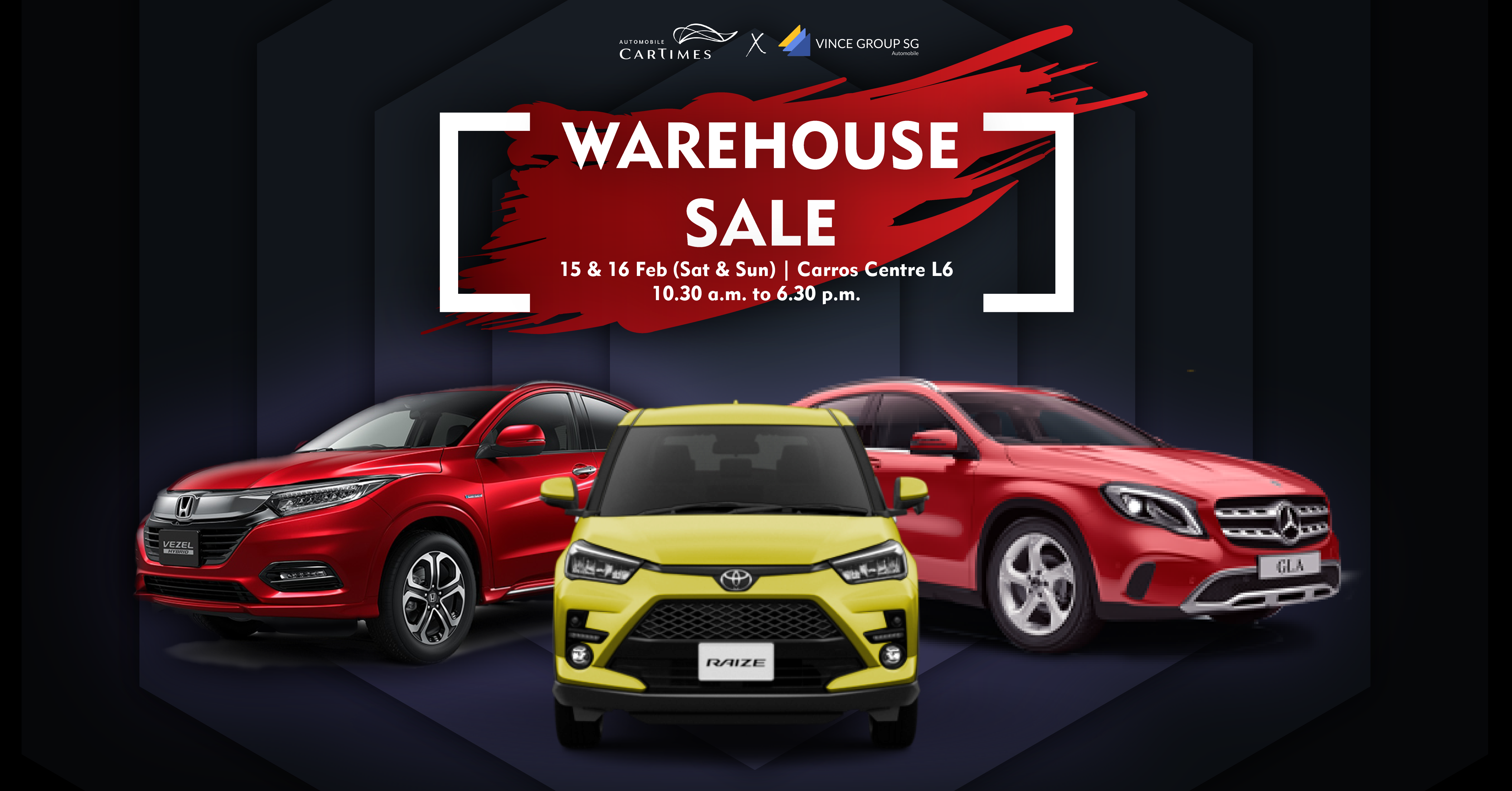 CarTimes X Vince Group SG: Warehouse Clearance Sale 2020 Car Promo